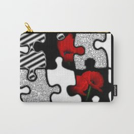 poppylove with puzzle-design -2- Carry-All Pouch