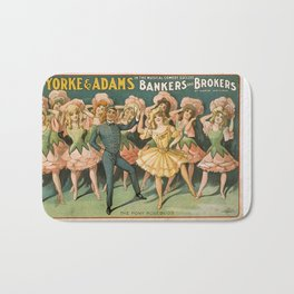 Vintage poster - Bankers and Brokers Bath Mat