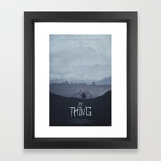 Winter - The Thing (1982) Poster Framed Art Print