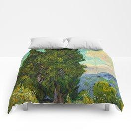 Cypresses Oil Painting Landscape Vincent van Gogh Comforters