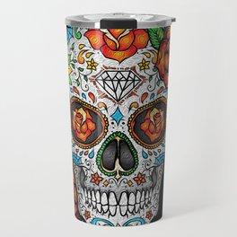 Sugar Skull, Day Of The Dead Travel Mug