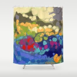 Tide Pool Reflections Shower Curtain