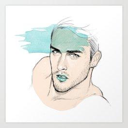 Green lipstick Art Print