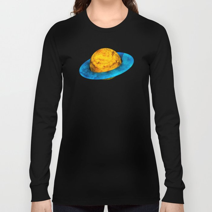 Colorful watercolor hand drawn planet. Long Sleeve T-shirt