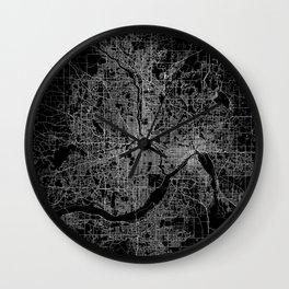 minneapolis map Wall Clock