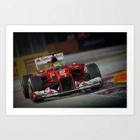ferrari Art Prints featuring Ferrari  by Joseph Christopher