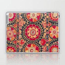 Kermina Suzani Uzbekistan Floral Embroidery Print Laptop & iPad Skin