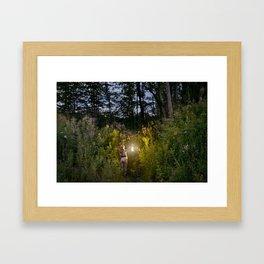 Entering the Forest Framed Art Print
