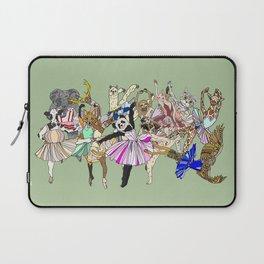 Animal Ballet Hipsters - Green Laptop Sleeve
