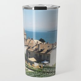 View from Le Château de Nyon Travel Mug