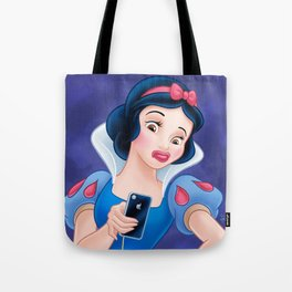 Snow White Duck Face Tote Bag