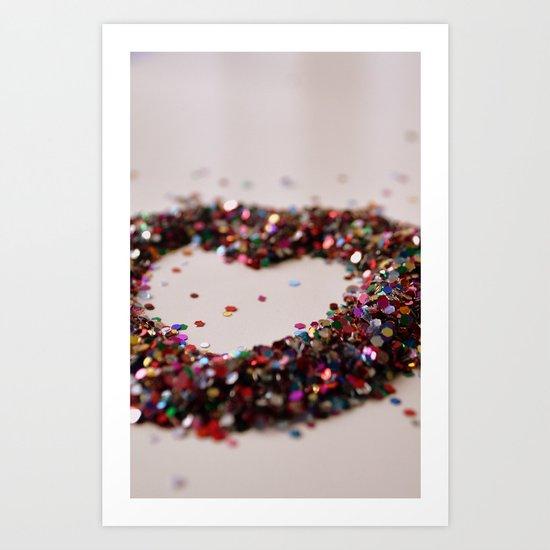 Glitter Heart Art Print