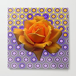 GOLDEN GARDEN ROSE MODERN ABSTRACT Metal Print
