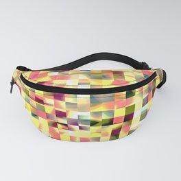 Abstract color pixels Fanny Pack