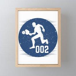 Zero Zero Two I Funny Pickleball Sport Gift Fast Movement design Framed Mini Art Print