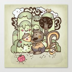 Happy Squirrel Canvas Print