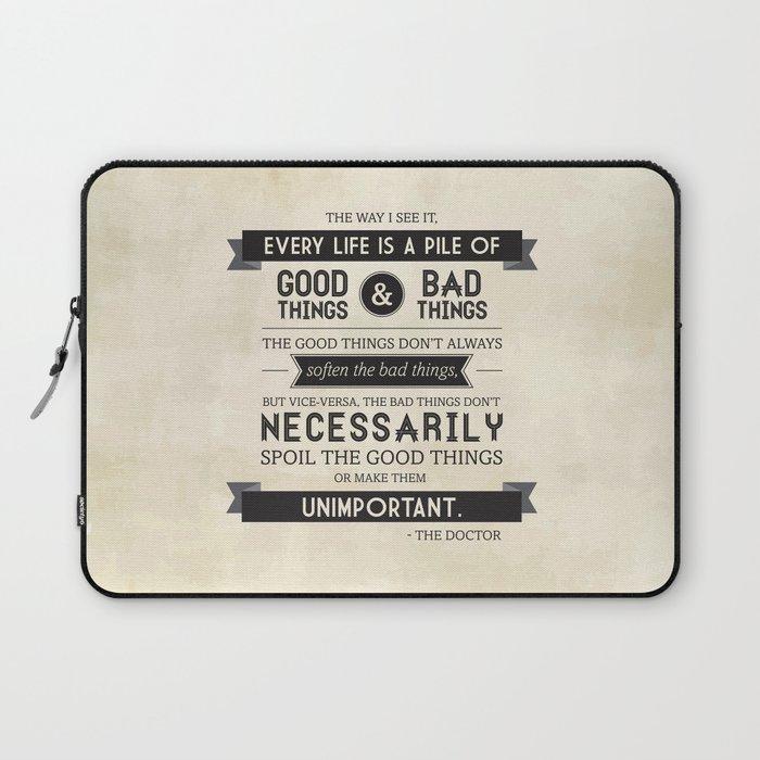 Good Things & Bad Things Laptop Sleeve
