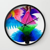 fairies Wall Clocks featuring Fairies  by MandiMccl