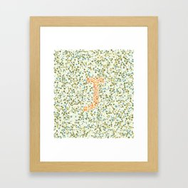 """J"" Eye Test Full Framed Art Print"