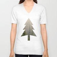 mountain V-neck T-shirts featuring Mountain Haze by Kurt Rahn