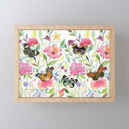 Spring Flowers Framed Mini Art Print