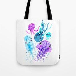 Jelly Fish Fields - Ocean Watercolor Tote Bag