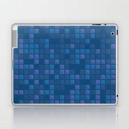 november blue geometric pattern Laptop & iPad Skin