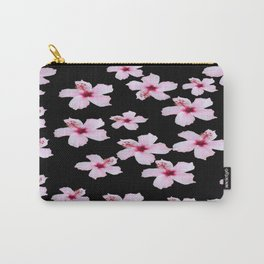 Tropical in black and pink Carry-All Pouch