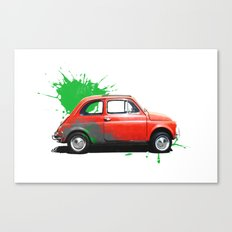 Italia - Fiat 500 retro Canvas Print