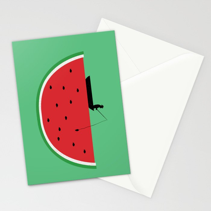 Watermelon Fisher Stationery Cards