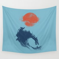 MONSTER WAVE Wall Tapestry