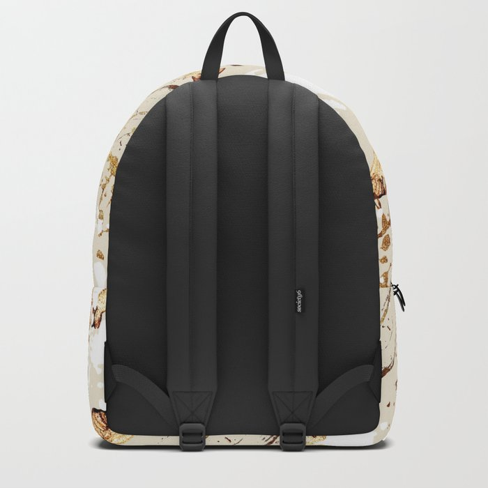 Feather peacock gold #4 Backpack