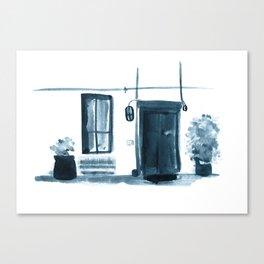 Small Street, Small Entrance  Canvas Print