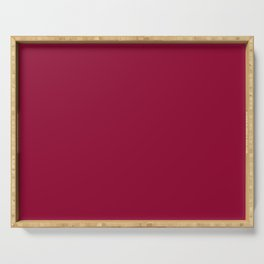 Best Seller Colors of Autumn Chili Red - Deep Rich Pink Solid Color / Accent Shade / Hue Serving Tray