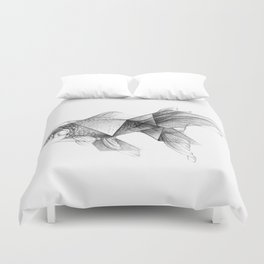 Goldfish Origami Duvet Cover