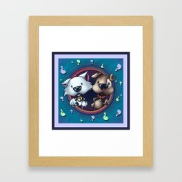 """""""Like cats and dogs"""" - Last page Framed Art Print"""