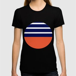 Summer Patio Perfect, Adobe Orange, White & Navy T-shirt