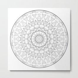 Cat Mandala Doodle Metal Print