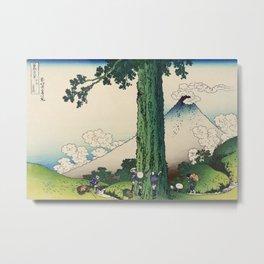 Koshu Mishima Goe - Thirty Six Views Of Mount Fuji - Hokusai Metal Print