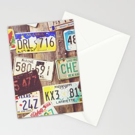 License Plates Stationery Cards