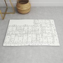Detailed architectural floor layout Rug