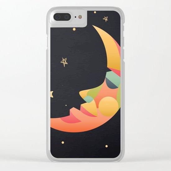 Imaginative Moon Clear iPhone Case