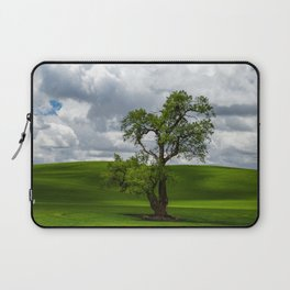 Single Tree in Green Field Laptop Sleeve