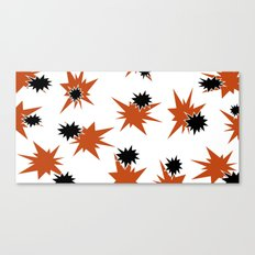 Stars (Orange & Black on White) Canvas Print