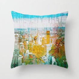 City Never Sleeps, NYC isn't Tired. Throw Pillow