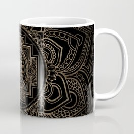 Golden Sri Yantra  / Sri Chakra in lotus Coffee Mug