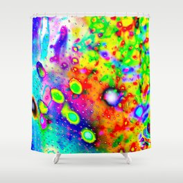 Lighting Experiment 47 - Psychedelic Bubbles Shower Curtain