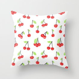 Cherries series Throw Pillow