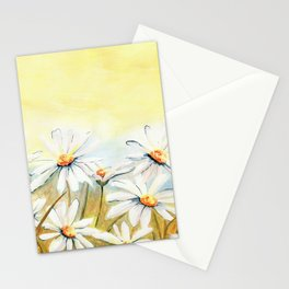 Daisies Watercolor Stationery Cards