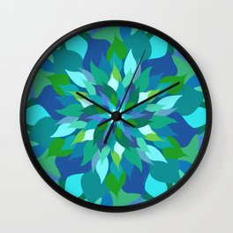 Healing Leaves Wall Clock